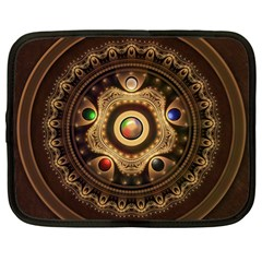 Gathering The Five Fractal Colors Of Magic Netbook Case (large) by jayaprime
