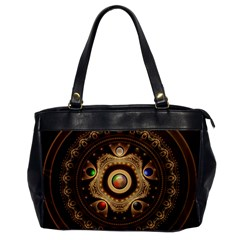 Gathering The Five Fractal Colors Of Magic Office Handbags by jayaprime