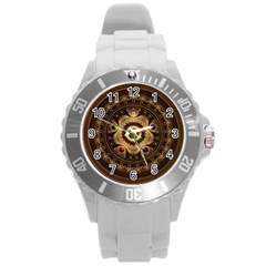Gathering The Five Fractal Colors Of Magic Round Plastic Sport Watch (l) by jayaprime