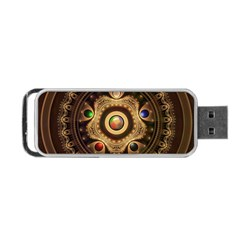 Gathering The Five Fractal Colors Of Magic Portable Usb Flash (two Sides) by jayaprime