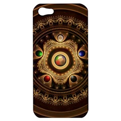 Gathering The Five Fractal Colors Of Magic Apple Iphone 5 Hardshell Case by beautifulfractals