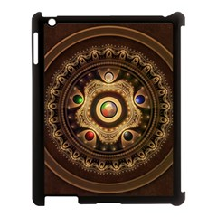 Gathering The Five Fractal Colors Of Magic Apple Ipad 3/4 Case (black) by beautifulfractals