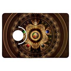 Gathering The Five Fractal Colors Of Magic Kindle Fire Hdx Flip 360 Case by beautifulfractals