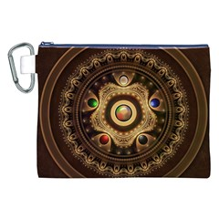 Gathering The Five Fractal Colors Of Magic Canvas Cosmetic Bag (xxl) by beautifulfractals