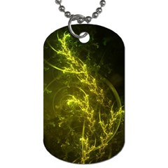 Beautiful Emerald Fairy Ferns In A Fractal Forest Dog Tag (two Sides) by jayaprime