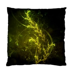 Beautiful Emerald Fairy Ferns In A Fractal Forest Standard Cushion Case (two Sides) by jayaprime
