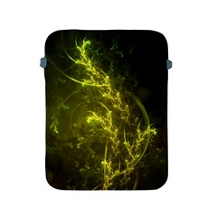 Beautiful Emerald Fairy Ferns In A Fractal Forest Apple Ipad 2/3/4 Protective Soft Cases by beautifulfractals