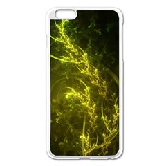 Beautiful Emerald Fairy Ferns In A Fractal Forest Apple Iphone 6 Plus/6s Plus Enamel White Case by jayaprime