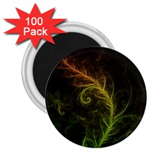 Fractal Hybrid Of Guzmania Tuti Fruitti And Ferns 2 25  Magnets (100 Pack)  by beautifulfractals