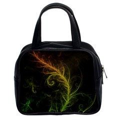 Fractal Hybrid Of Guzmania Tuti Fruitti And Ferns Classic Handbags (2 Sides) by jayaprime