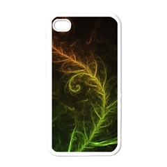 Fractal Hybrid Of Guzmania Tuti Fruitti And Ferns Apple Iphone 4 Case (white) by jayaprime