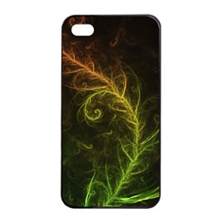 Fractal Hybrid Of Guzmania Tuti Fruitti And Ferns Apple Iphone 4/4s Seamless Case (black) by jayaprime