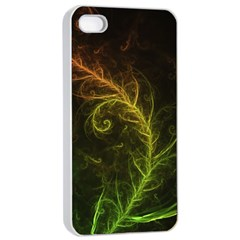 Fractal Hybrid Of Guzmania Tuti Fruitti And Ferns Apple Iphone 4/4s Seamless Case (white) by jayaprime