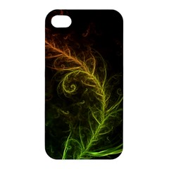 Fractal Hybrid Of Guzmania Tuti Fruitti And Ferns Apple Iphone 4/4s Premium Hardshell Case by jayaprime