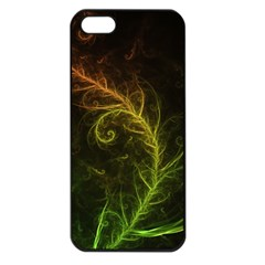 Fractal Hybrid Of Guzmania Tuti Fruitti And Ferns Apple Iphone 5 Seamless Case (black) by beautifulfractals