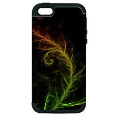 Fractal Hybrid Of Guzmania Tuti Fruitti And Ferns Apple Iphone 5 Hardshell Case (pc+silicone) by beautifulfractals