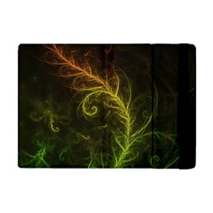 Fractal Hybrid Of Guzmania Tuti Fruitti And Ferns Apple Ipad Mini Flip Case by beautifulfractals