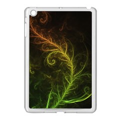 Fractal Hybrid Of Guzmania Tuti Fruitti And Ferns Apple Ipad Mini Case (white) by jayaprime