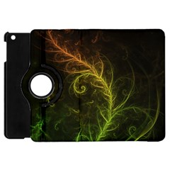 Fractal Hybrid Of Guzmania Tuti Fruitti And Ferns Apple Ipad Mini Flip 360 Case by beautifulfractals