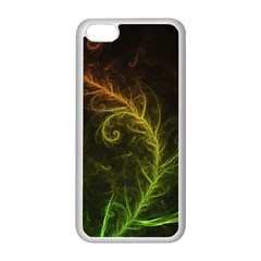 Fractal Hybrid Of Guzmania Tuti Fruitti And Ferns Apple Iphone 5c Seamless Case (white) by jayaprime
