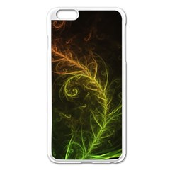 Fractal Hybrid Of Guzmania Tuti Fruitti And Ferns Apple Iphone 6 Plus/6s Plus Enamel White Case by jayaprime