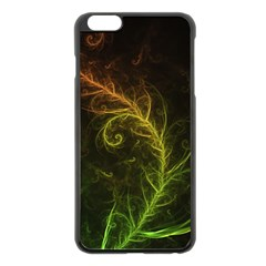 Fractal Hybrid Of Guzmania Tuti Fruitti And Ferns Apple Iphone 6 Plus/6s Plus Black Enamel Case by jayaprime