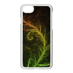 Fractal Hybrid Of Guzmania Tuti Fruitti And Ferns Apple Iphone 7 Seamless Case (white) by jayaprime