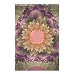 Pastel Pearl Lotus Garden Of Fractal Dahlia Flowers Shower Curtain 48  X 72  (small)  by jayaprime