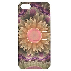 Pastel Pearl Lotus Garden Of Fractal Dahlia Flowers Apple Iphone 5 Hardshell Case With Stand by beautifulfractals
