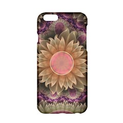 Pastel Pearl Lotus Garden Of Fractal Dahlia Flowers Apple Iphone 6/6s Hardshell Case by beautifulfractals