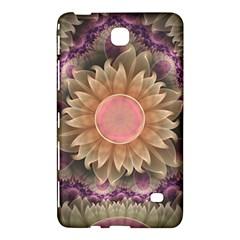 Pastel Pearl Lotus Garden Of Fractal Dahlia Flowers Samsung Galaxy Tab 4 (7 ) Hardshell Case  by jayaprime