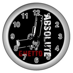 Absolute Ghetto Wall Clocks (silver)  by Valentinaart