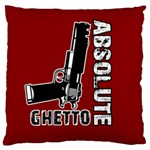 Absolute ghetto Large Cushion Case (Two Sides) Front