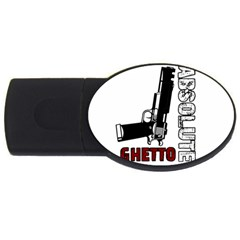 Absolute Ghetto Usb Flash Drive Oval (4 Gb) by Valentinaart