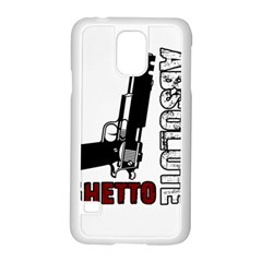 Absolute Ghetto Samsung Galaxy S5 Case (white) by Valentinaart