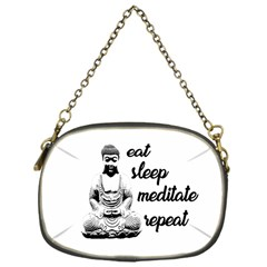 Eat, Sleep, Meditate, Repeat  Chain Purses (one Side)  by Valentinaart