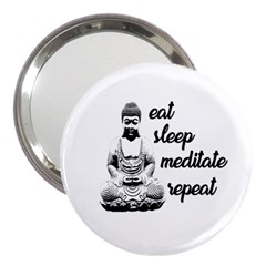 Eat, Sleep, Meditate, Repeat  3  Handbag Mirrors by Valentinaart