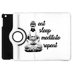 Eat, Sleep, Meditate, Repeat  Apple Ipad Mini Flip 360 Case by Valentinaart