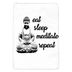 Eat, Sleep, Meditate, Repeat  Flap Covers (s)  by Valentinaart