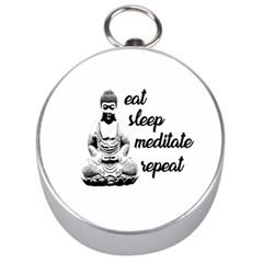 Eat, Sleep, Meditate, Repeat  Silver Compasses by Valentinaart