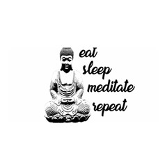 Eat, Sleep, Meditate, Repeat  Satin Wrap by Valentinaart