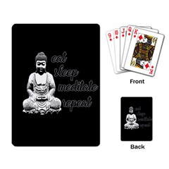 Eat, Sleep, Meditate, Repeat  Playing Card by Valentinaart