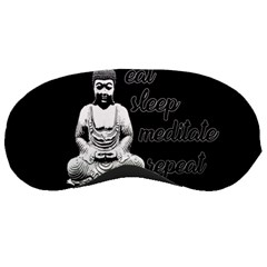 Eat, Sleep, Meditate, Repeat  Sleeping Masks by Valentinaart