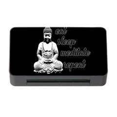 Eat, Sleep, Meditate, Repeat  Memory Card Reader With Cf by Valentinaart