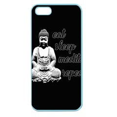 Eat, Sleep, Meditate, Repeat  Apple Seamless Iphone 5 Case (color) by Valentinaart