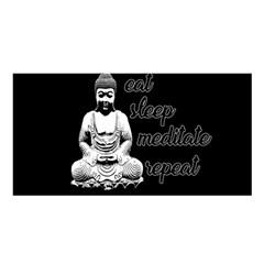 Eat, Sleep, Meditate, Repeat  Satin Shawl by Valentinaart