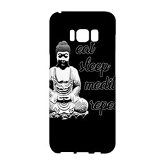 Eat, Sleep, Meditate, Repeat  Samsung Galaxy S8 Hardshell Case  by Valentinaart