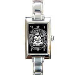 Ornate Buddha Rectangle Italian Charm Watch by Valentinaart