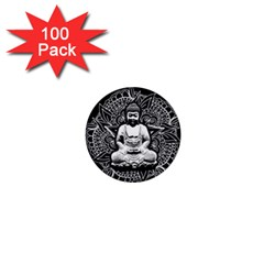 Ornate Buddha 1  Mini Buttons (100 Pack)  by Valentinaart