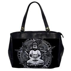 Ornate Buddha Office Handbags by Valentinaart